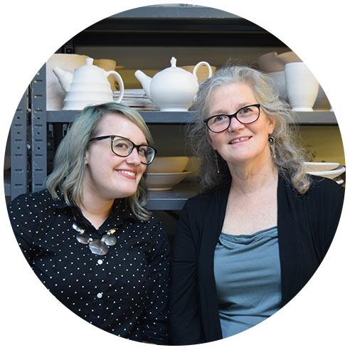 Sarah Payne and Susan Bourque